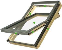 FAKRO - kyvné střešní okno FTP - V U3  -  energeticky úsporné dvojsklo U3