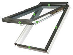 FAKRO - výklopně-kyvné střešní okno PPP V U3 preSelect - energeticky úsporné dvojsklo U3