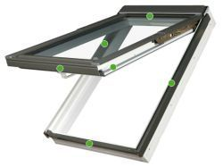FAKRO - výklopně-kyvné střešní okno PPP V/PI U3 preSelect- energeticky úsporné dvojsklo U3