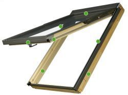 FAKRO - výklopně - kyvné střešní okno FPU V U5 preSelect - nízkoenergetické trojsklo U5