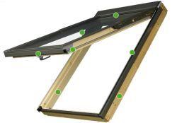 FAKRO - výklopně- kyvné střešní okno FPP V U3 preSelect - energeticky úsporné dvojsklo U3