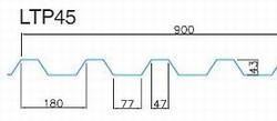 Trapézový plech LTP 45, povrch Classic