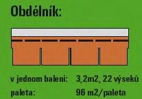 bitumenový šindel Obdelník
