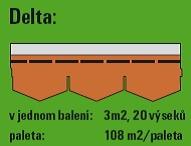 bitumenový šindel Delta