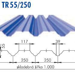 Trapézový plech TR 55/250, povrch Aluzink