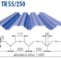 Trapézový plech TR 55/250, povrch Polak