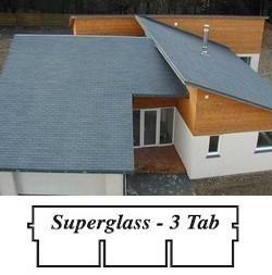 bitumenový šindel Superglass - 3 tabulový