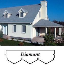 bitumenový šindel Diamant- tvar trojúhelník