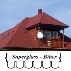 bitumenový šindel Superglass Biber- bobrovka