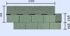 bitumenový šindel Standard- tvar obdelník