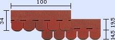 bitumenový šindel Traditional- tvar bobrovka