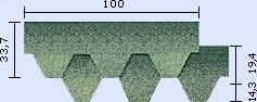 samolepící bitumenový šindel Mosaik