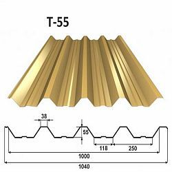 Trapézový plech T55