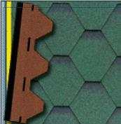 bitumenový šindel Hexagonál Premium