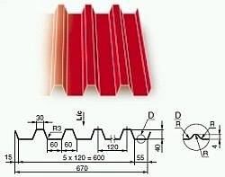 Tvarovaný plech KOB 1003