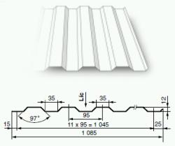 Tvarovaný plech KOB 1012
