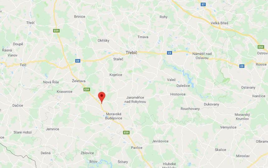 Mapa - Moravské Budějovice