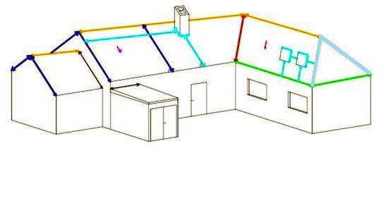 Rekonstrukce střechy - zaměření střechy